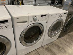 LG frontload washer dryer set gas dryer for Sale in Phoenix, AZ