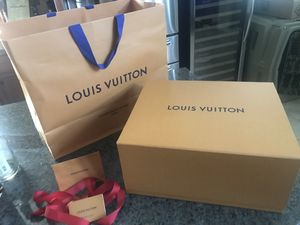 AUTHENTIC Brand New Louis Vuitton Magnetic Box & Shopping Bag for Sale in Houston, TX