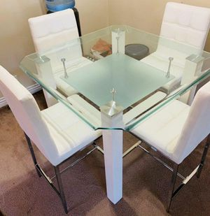 New!! White 4pcs Dining table • No credit Check • Apply from your phone 📱 for Sale in Las Vegas, NV