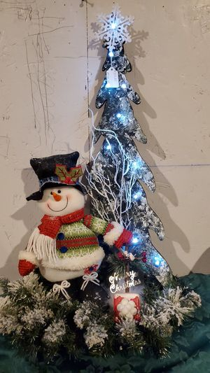 "Snowman Centerpiece New, Made at Curtis Country 27"" for Sale in Spanaway, WA"