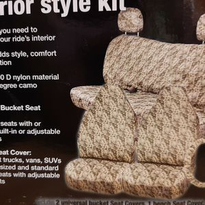 Car/SUV seat cover complete set camouflage for Sale in Monroe, NC