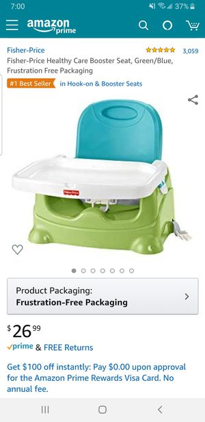 Fisher-Price Healthy Care Booster Seat, Green/Blue, for Sale in Huntington Park, CA