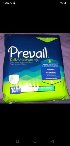 Prevail daily underwear for adults for Sale in IND HILLSIDE, NJ