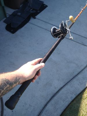 Calstar or sabre fishing rod set up with newell for Sale in Westminster, CA