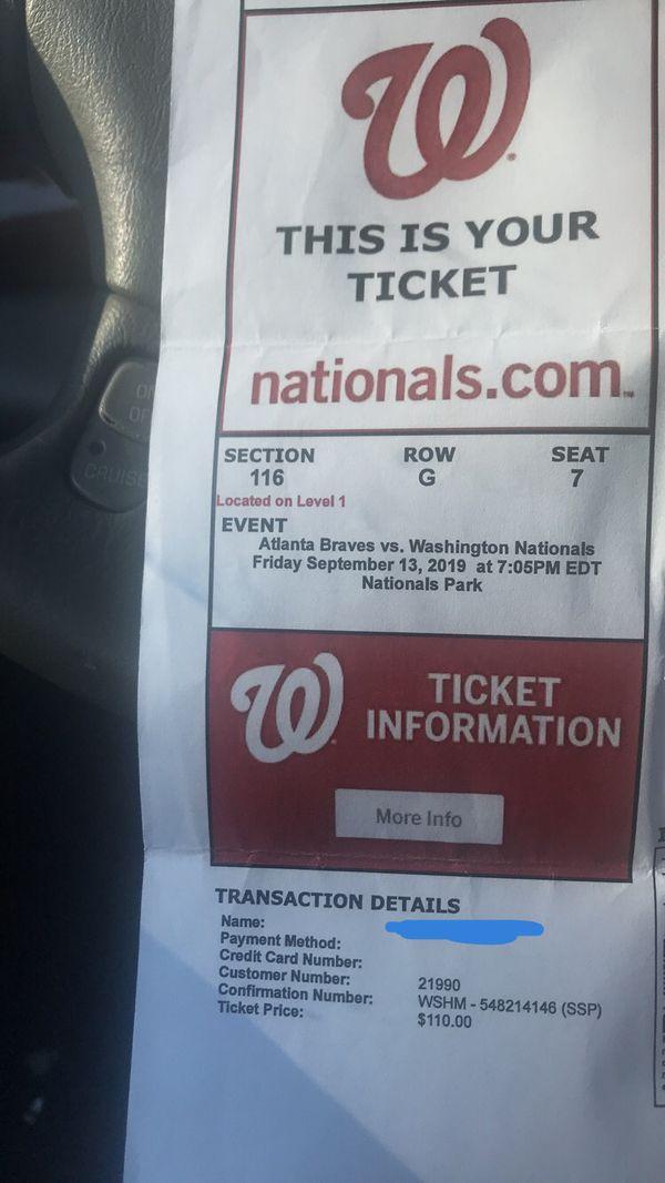 Nationals Tickets