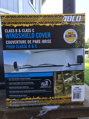 ADCO WHITE CLASS B/C FORD WINDSHIELD COVER 2407 with Mirror-Cut-Out. for Sale in Melbourne, FL