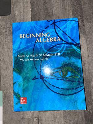 Beginning Algebra Math 51 (Mt.San Antonio College) for Sale in West Covina, CA