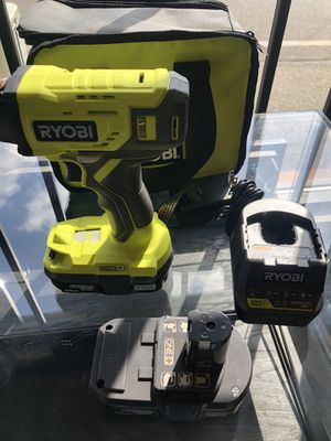 New Ryobi Drill 18V Lithium One+ Model: P235A includes 2 1.5ah batteries and Charger with soft case for Sale in Tacoma, WA