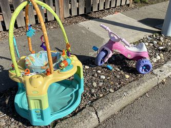 Free Exersaucer, Toddler Big Wheel Trike for Sale in Portland,  OR