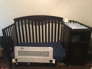 Dark wood baby crib for Sale in Richardson, TX