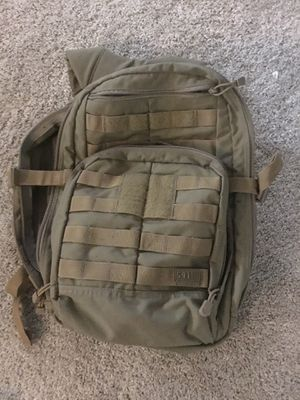 5.11 Rush 12 backpack, sandstone color, with water hydration pack for Sale in Selma, TX