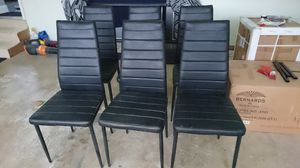 Used black metal dining chairs for Sale in Purcellville, VA