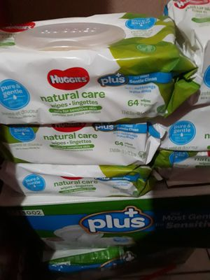 WIPES HUGGIES NATURAL CARE 6 PACKS POR $10 PRECIO FIRME for Sale in Santa Ana, CA