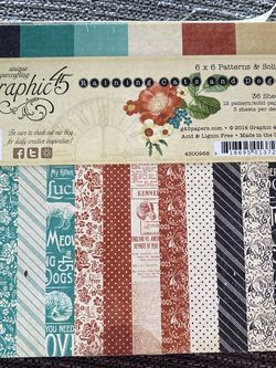 Scrapbooking paper cats and dogs 6 x 6 for Sale in Lake Forest,  CA