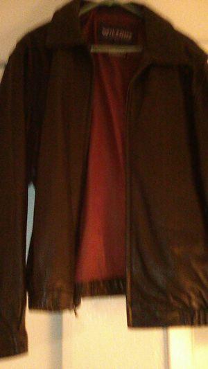 Wilson Black Leather Men's Jacket size Large for Sale in Glendale, AZ