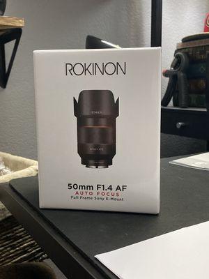 Rokinon 50mm f/1.4 Sony E Mount for Sale in Pleasanton, CA