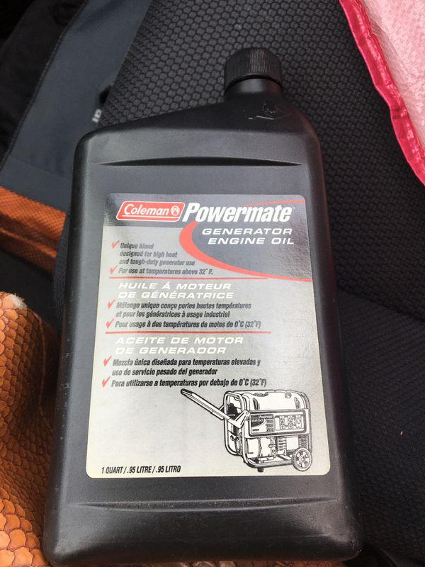 PowerMate generator engine oil Coleman 1 quart