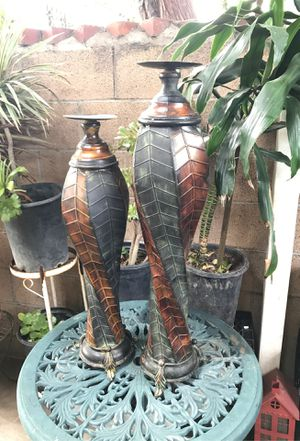 2 metal garden candles holder for Sale in Rancho Dominguez, CA
