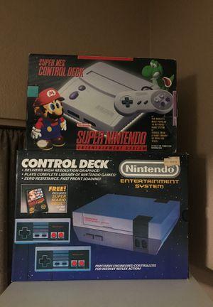 Nintendo and Super Nintendo in Box and complete for Sale in Lodi, CA
