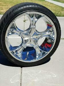 "20"" chrome rims with lo pro tires for Sale in Salt Lake City, UT"