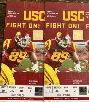 2 USC tickets $20 each! Last minute! for Sale in Santa Monica, CA