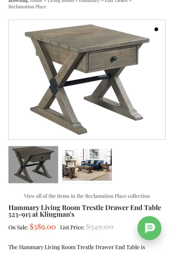 Hammary Rustic End Table