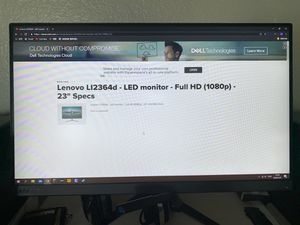 "lenovo 1080p 75hz 23"" computer monitor for Sale in ROWLAND HGHTS, CA"
