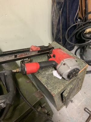 Milwaukee nail gun for Sale in Rehoboth, MA