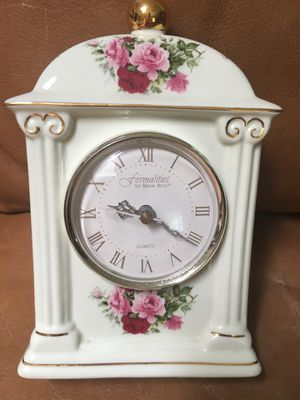 Formalities- Baum Brothers- 8 inch high China mantel clock for Sale in Fresno, CA
