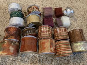 Crafts Ribbons Basket making supplies. for Sale in Carol Stream, IL