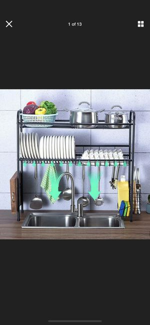 Over The Sink Dish Drying Rack Collapsible Stainless Steel Dish Drainer Large for Sale in El Cajon, CA