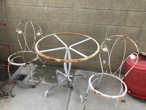 Antique Bistro table and chairs for Sale in Yorba Linda, CA