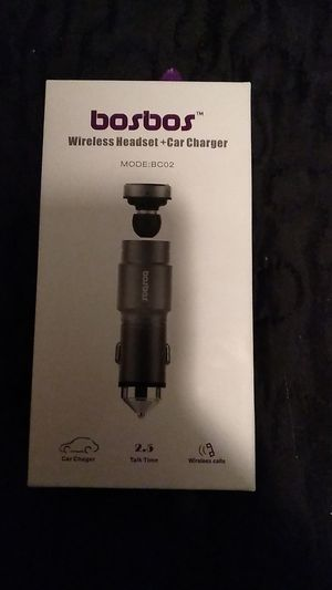 Boston wireless headset plus car charger for Sale in NEW PRT RCHY, FL