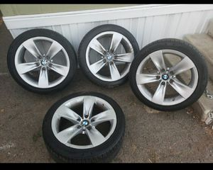 BMW 2008 528I RIMS AND TIRES SIZE 18 for Sale in Los Angeles, CA
