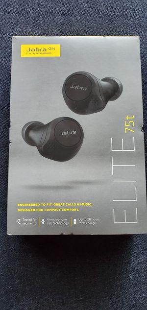 Jabra Elite 75t true wireless earbuds brand new sealed box,Black for Sale in Phillips Ranch, CA