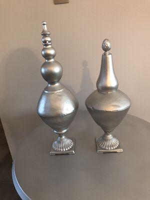 Metallic silver finials for Sale in Alafaya, FL