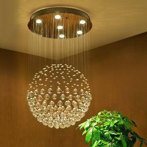 Modern K9 Crystal Raindrop Chandelier Lighting Flush mount LED Ceiling Light for Dining Room Bathroom Bedroom Livingroom (H32 X D18) for Sale in Henderson, NV