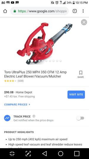 Toro Electric Leaf Blower Vacuum Mulcher for Sale in San Antonio, TX