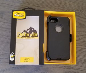 iPhone 8 iPhone 7 Otterbox Defender Case with belt clip holster black for Sale in Canyon Country, CA