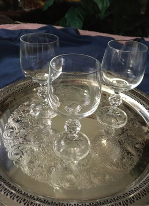 2 Pairs of Beautiful Bohemian Crystal Stemware. for Sale in Fond du Lac, WI