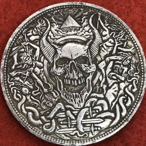 Devil skull coin. Tibetan silver. First $20 offer automatically accepted. Shipped same day for Sale in Portland, OR