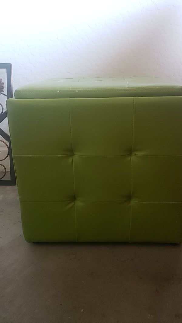 Lime green box
