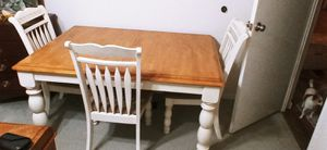 Gently used kitchen table with 4 matching chairs for Sale in Mountlake Terrace, WA