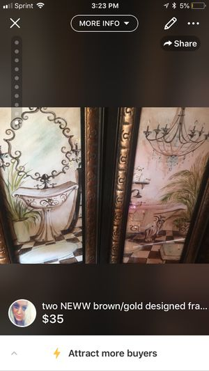 NEW* two piece matching set glass nice bathroom pictures(: for Sale in Kingsport, TN