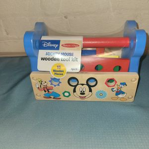 Disney Mickey Mouse Wooden Tool Kit NEW for Sale in Erie, PA