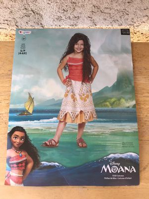 HALLOWEEN DISNEY MOANA DRESS COSTUME KIDS SIZE SMALL 4-6 for Sale in Rialto, CA