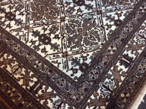 Antique hand knotted wool rug carpet rug floor rustic cabin - PERFECT for Sale in Eagle River, WI
