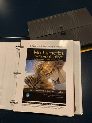 Mathematics with applications. Tri c book for Sale in Strongsville, OH