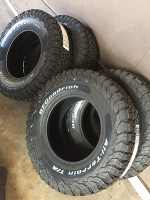 BFGOODRICH All- Terrain T/A.. K02. Tires. LT/285/70/r17. for Sale in West Covina, CA