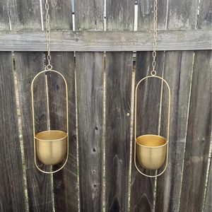 2 Gold Hanging Plant Holders for Sale in El Cajon, CA
